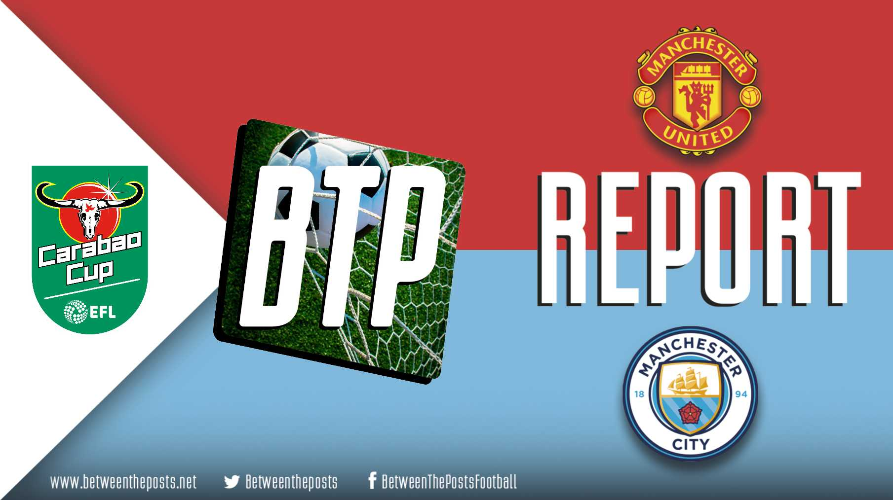 Manchester United Manchester City 0-2 Carabao League Cup