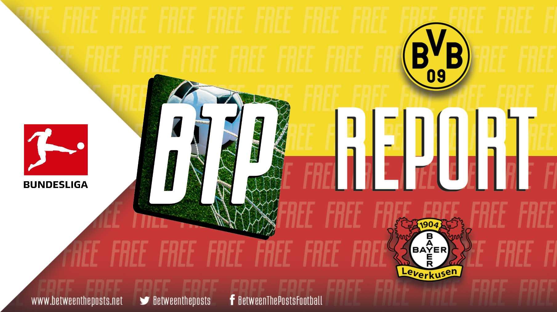 Tactical analysis Borussia Dortmund - Bayer Leverkusen 3-2 Bundesliga