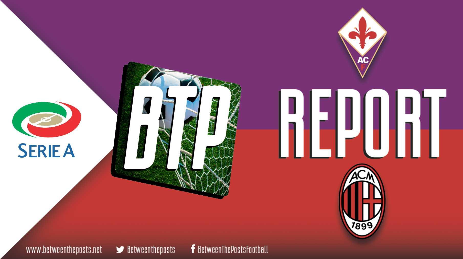 Tactical analysis Fiorentina - AC Milan 0-1 Serie A