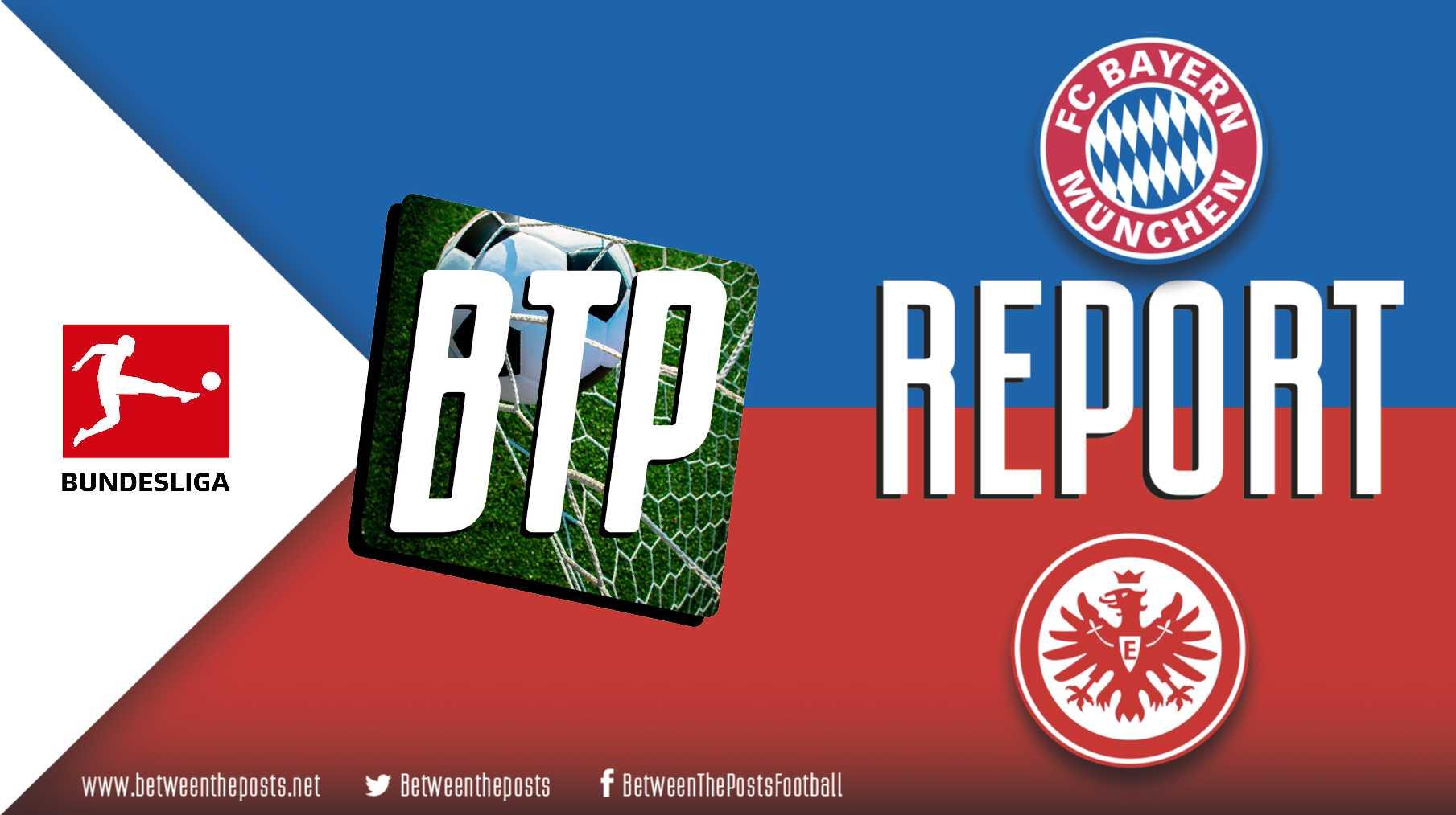 Tactical analysis Bayern Munich Eintracht Frankfurt 5-1