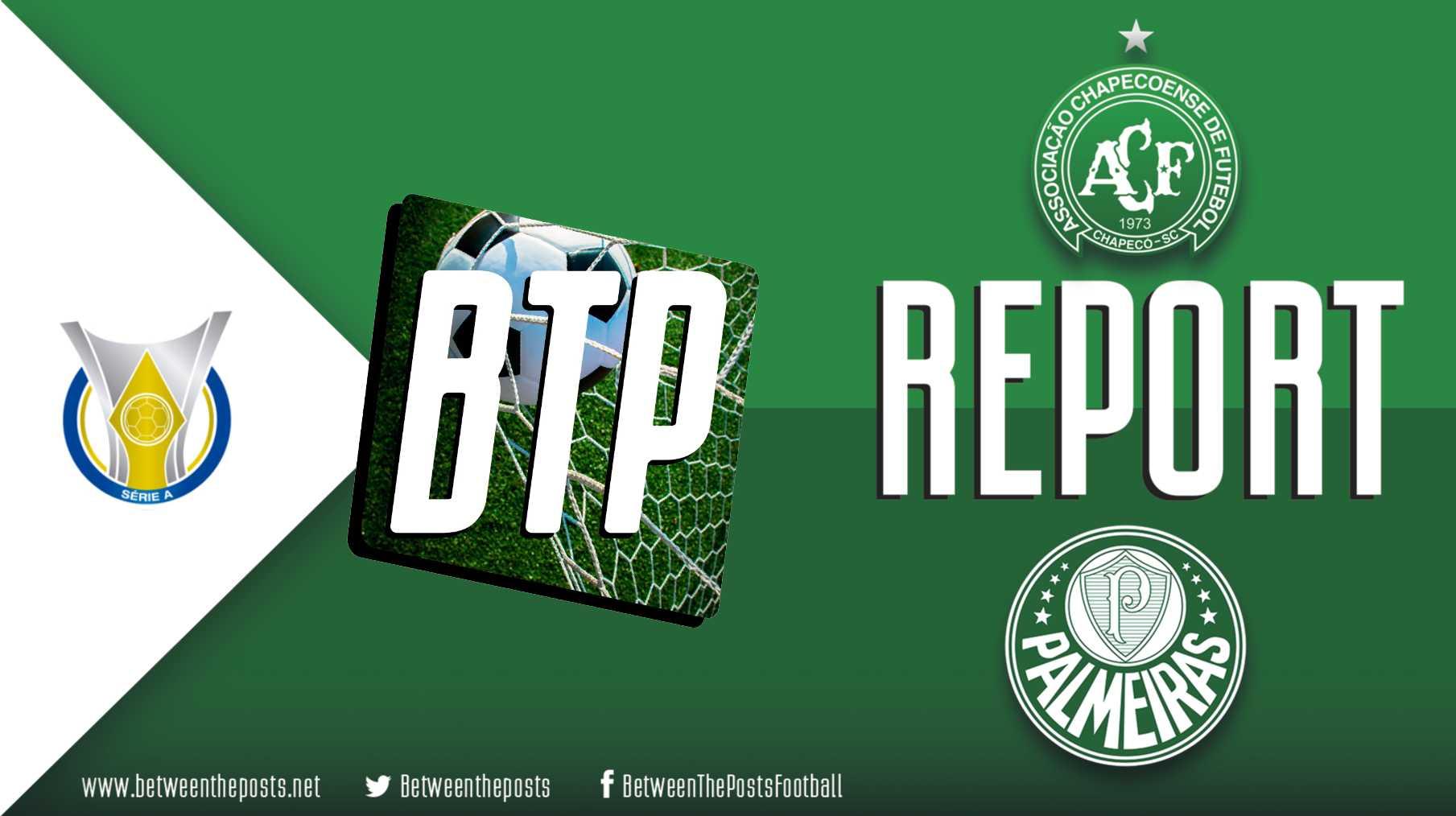Tactical analysis Chapecoense Palmeiras 1-2 Brasileiro