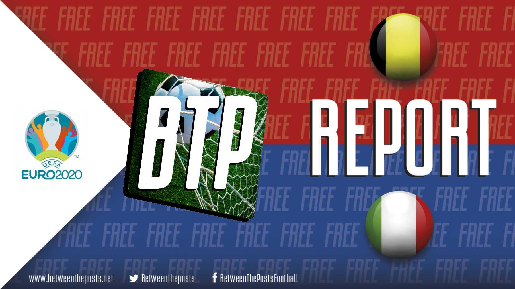 Belgium Italy 1-2 EURO 2020 tactics
