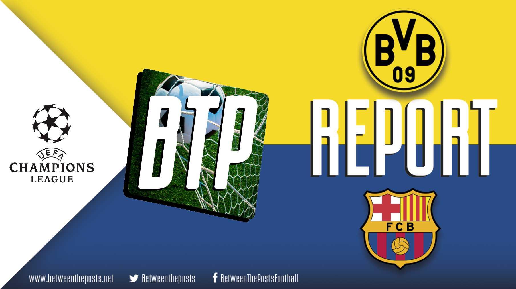 Tactical analysis Borussia Dortmund Barcelona 0-0 Champions League