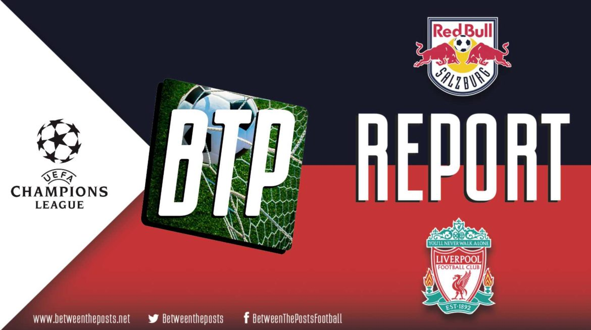 Red Bull Salzburg – Liverpool: Liverpool Wins In Austria To Advance Into Champions League Knock-Out Rounds (0-2)