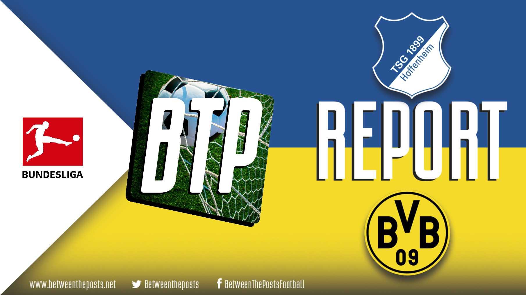 Tactical analysis TSG Hoffenheim Borussia Dortmund 2-1 Bundesliga